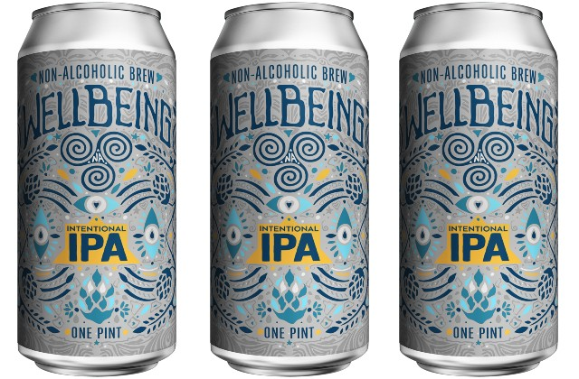 The label for WellBeing's new Intentional IPA, which hits shelves January 1. - COURTESY WELLBEING BREWING CO.