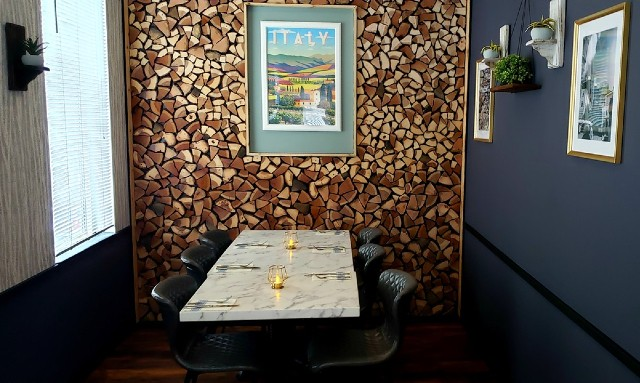 The dining space at Noto pays homage to Italy. - KRISTEN FARRAH