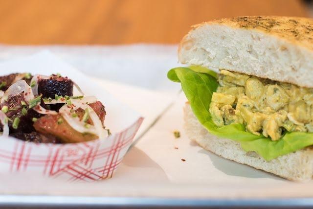 The curry chicken salad sandwich. - TRENTON ALMGREN-DAVIS