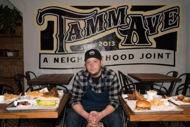 Chef Tommy Andrew inside Nomad. - TRENTON ALMGREN-DAVIS