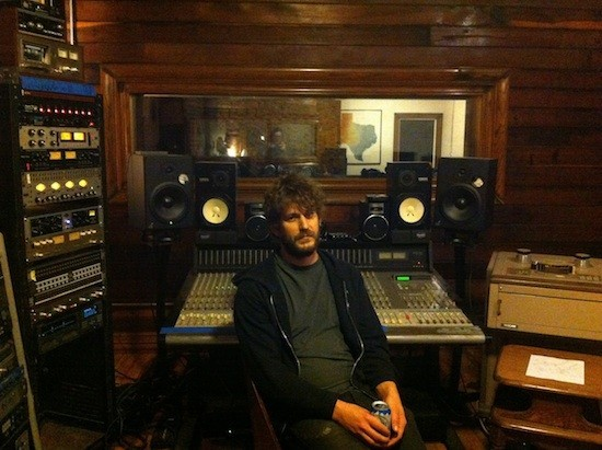 Native Sound co-owner David Beeman behind the controls at the studio. - BLAIR STILES