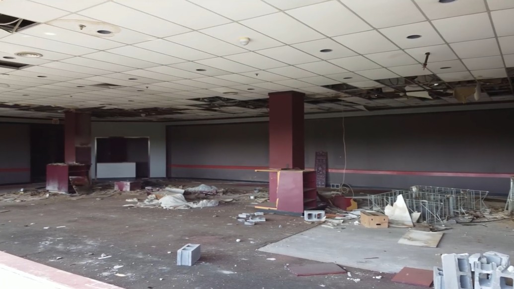 This was the restaurant upstairs at Dillard's. - SCREENGRAB FROM THIS VIDEO