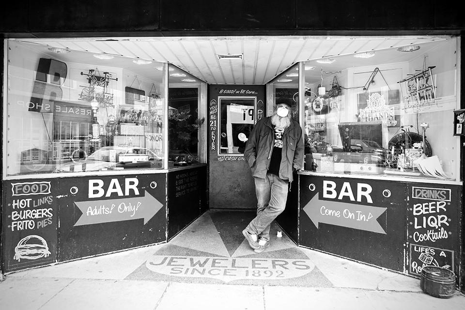 Rob Engelhardt at B-Side. - NATE BURRELL
