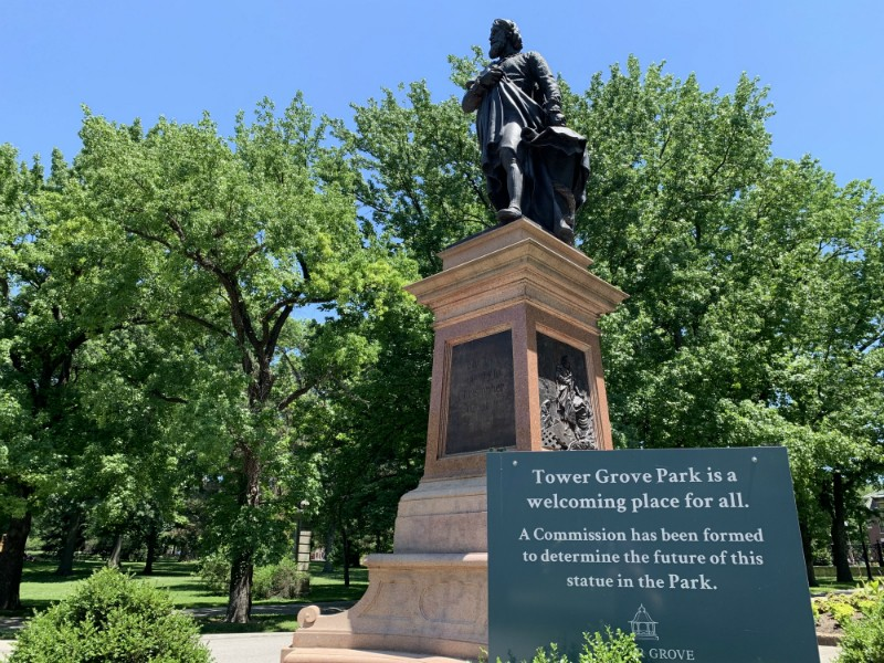 Calls to remove the Christopher Columbus statue have gotten new life as people across the country question statues while protesting racial injustice. - DOYLE MURPHY