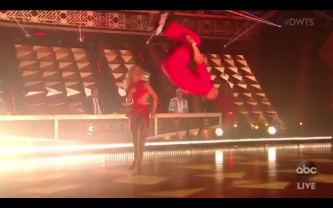 St. Louisans are just naturally talented at backflips, I guess. - SCREENSHOT FROM VIDEO BELOW