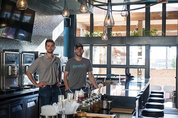 Brandon Holzhueter and Brad Merten will open Loaded Elevated Nachos in St. Charles in early 2021. - KELLY GLUECK