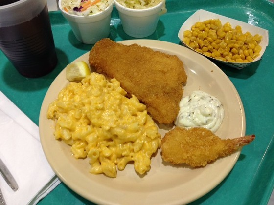 There will be no crowded dining halls, or in-person dining at all, this year, but you can still get fried cod and sides. - CHERYL BAEHR