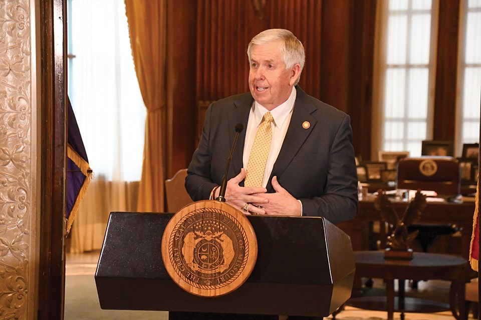 In 2020, Missouri Gov. Mike Parson used commutations to free six drug offenders, all imprisoned under the same repealed law. - COURTESY OF MISSOURI GOVERNOR'S OFFICE