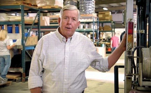Governor Mike Parson doesn't care how you get the cash to pay him back that extra unemployment money — you'd just better get it. - SCREENSHOT VIA YOUTUBE