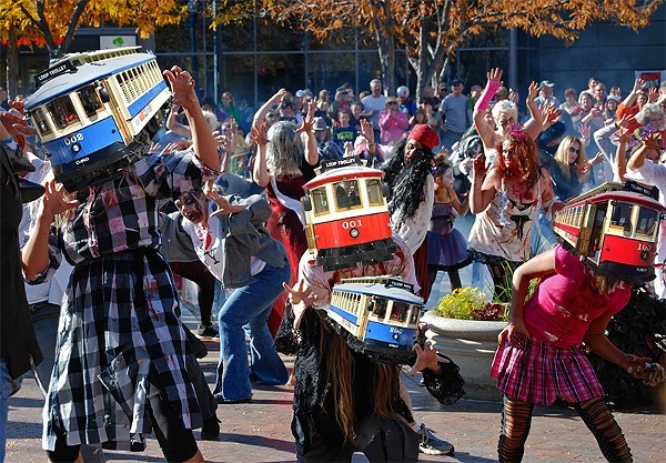 St. Louis is once again under siege by zombie trolley cars. - PHOTO ILLUSTRATION BY DANNY WICENTOWSKI/ROADSIDEPICTURES