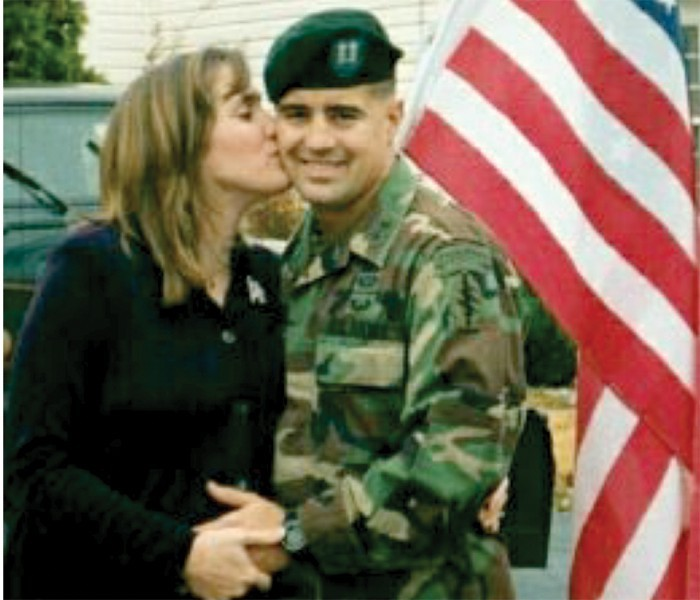 Dr. Osborn with her husband Jeffrey the day before he was deployed for Operation Enduring Freedom. - COURTESY DR. TIFFANY OSBORN