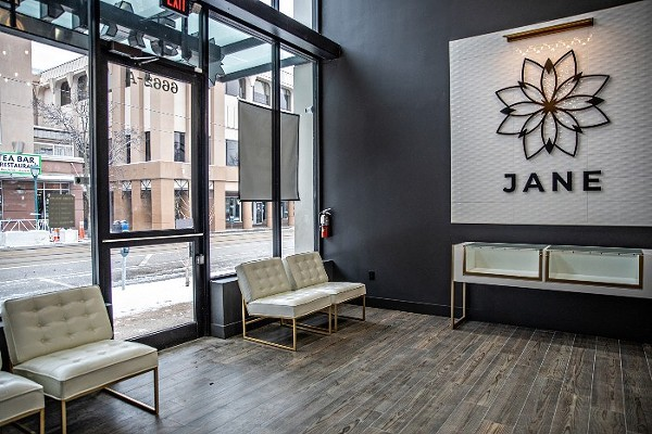 Jane Dispensary in the Delmar Loop is partnering with California-based delivery service Doobie to shuttle weed to customers throughout the St. Louis area. - VIA JANE DISPENSARY
