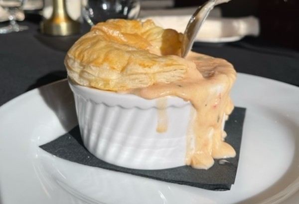 Lobster pot pie is one of Timothy's decadent first courses. - COURTESY TIMOTHY METZ