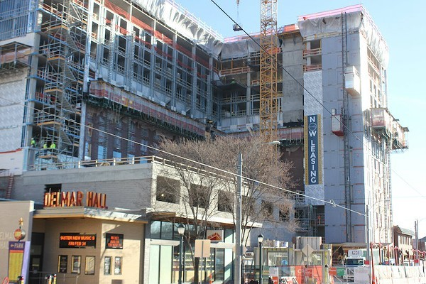 Everly is now under construction just east of the Loop. - PHOTO BY SARAH FENSKE