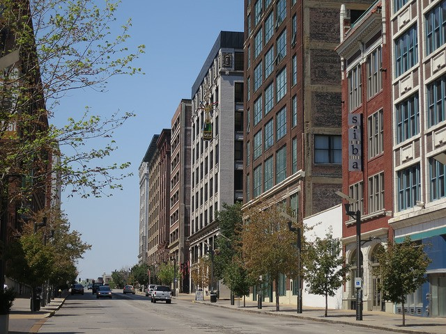 The western edge of downtown St. Louis features many beautiful old buildings converted to lofts. - PHOTO COURTESY OF FLICKR/PAUL SABLEMAN