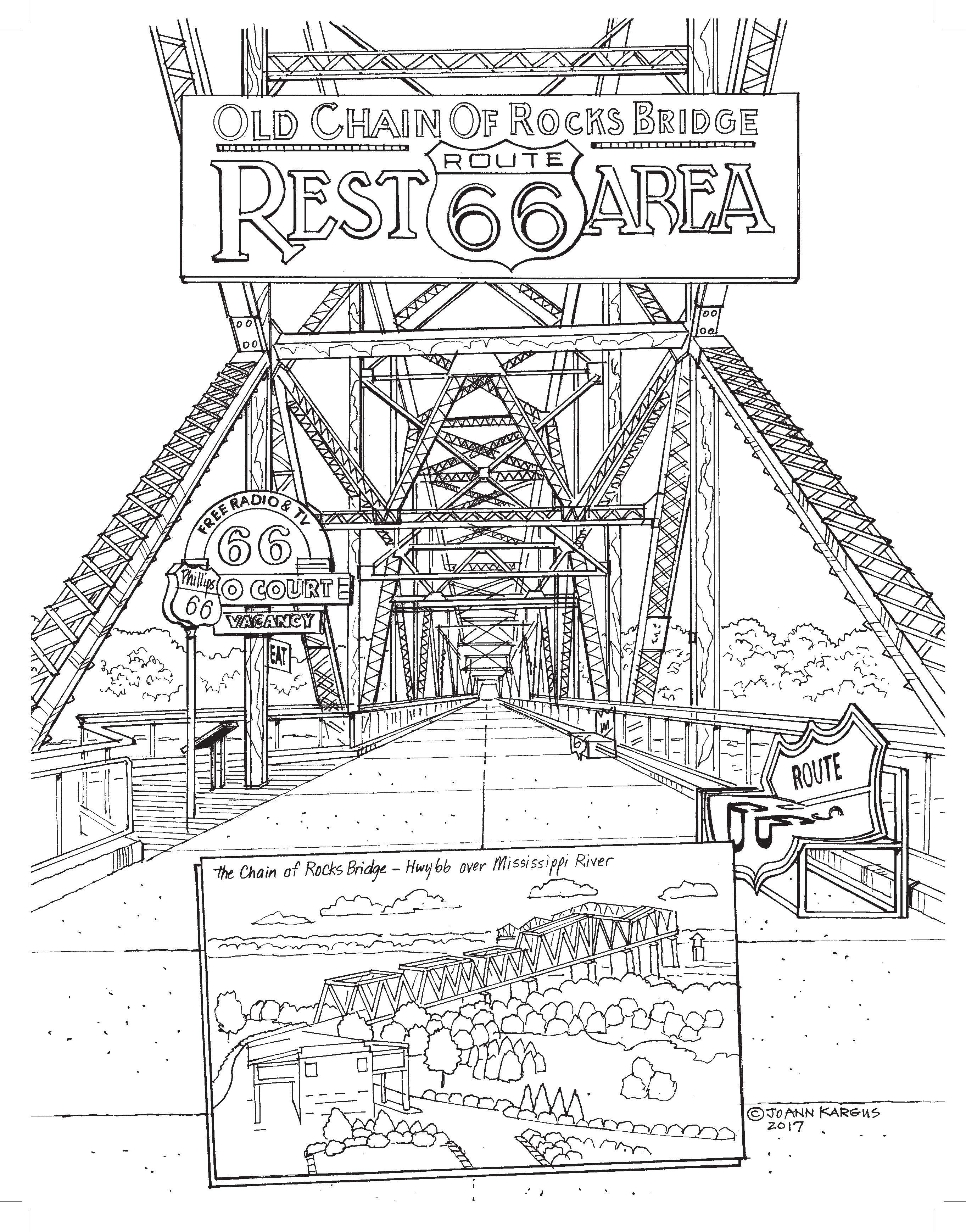 New Adult Coloring Book Shows Off The Wonders Of Route 66
