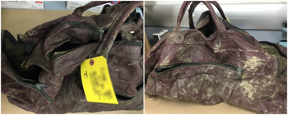 The bag was found by fishermen in far north St. Louis County. - IMAGES VIA ST. LOUIS COUNTY POLICE