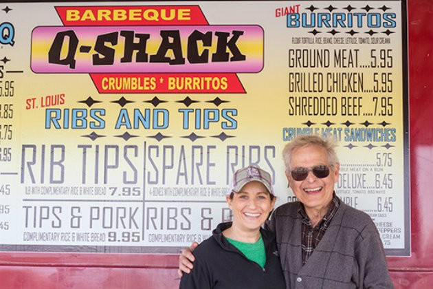 Larry Lampert, photographed a few years ago with his daughter Angie, was a fixture of the city's barbecue scene. - MABEL SUEN