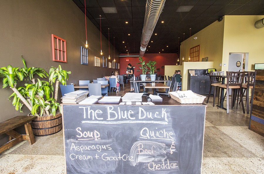 Click To Enlarge The Blue Duck Is Located In A Subdivided Space That Was Previously Home Monarch