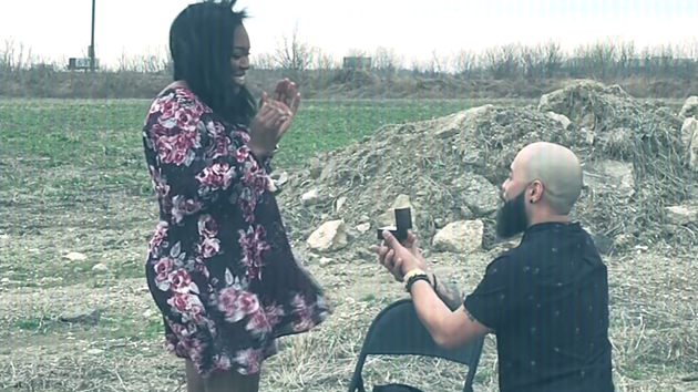 The end of the music video features a surprise proposal, but the song also stands well on its own. - SCREENSHOT FROM THE VIDEO BELOW
