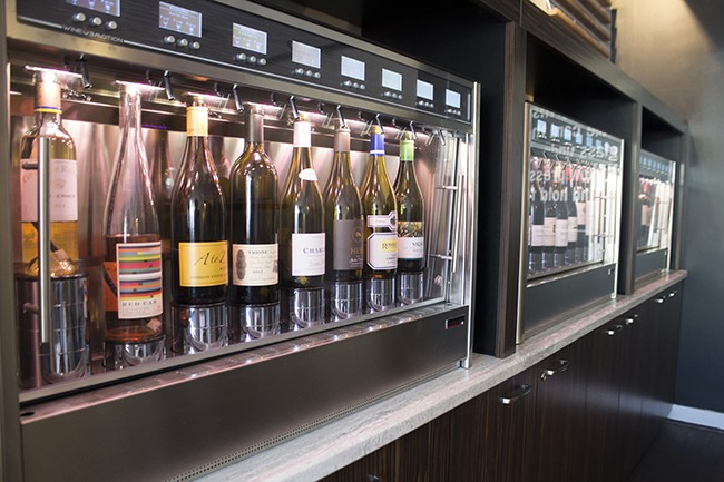 Twenty-four bottles are connected to a self-pour system. - PHOTO BY SARA BANNOURA