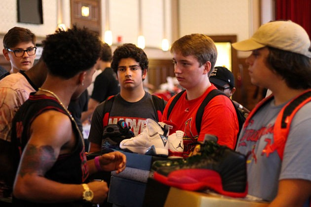 Sneaker collectors gathered at last year's Show Me Kicks Expo. to sell and trade shoes - PHOTO PROVIDED BY SMKE