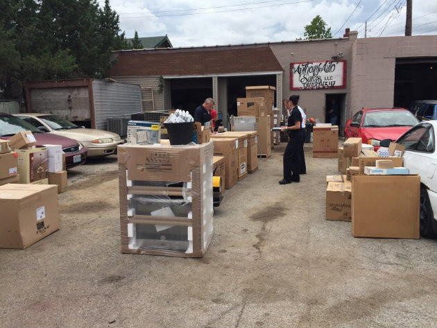 Police found a cache of more than $100,000 worth of stolen items. - IMAGE VIA ST. LOUIS COUNTY POLICE DEPARTMENT