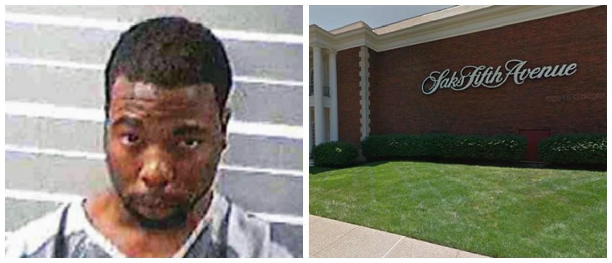 Mario Washington, 24, was sentenced for a 12-man heist at Saks Fifth Avenue. - IMAGES VIA ILLINOIS STATE POLICE/GOOGLE EARTH