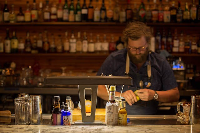 Jeffrey Moll working his magic at Randolfi's. - PHOTO BY MONICA MILEUR