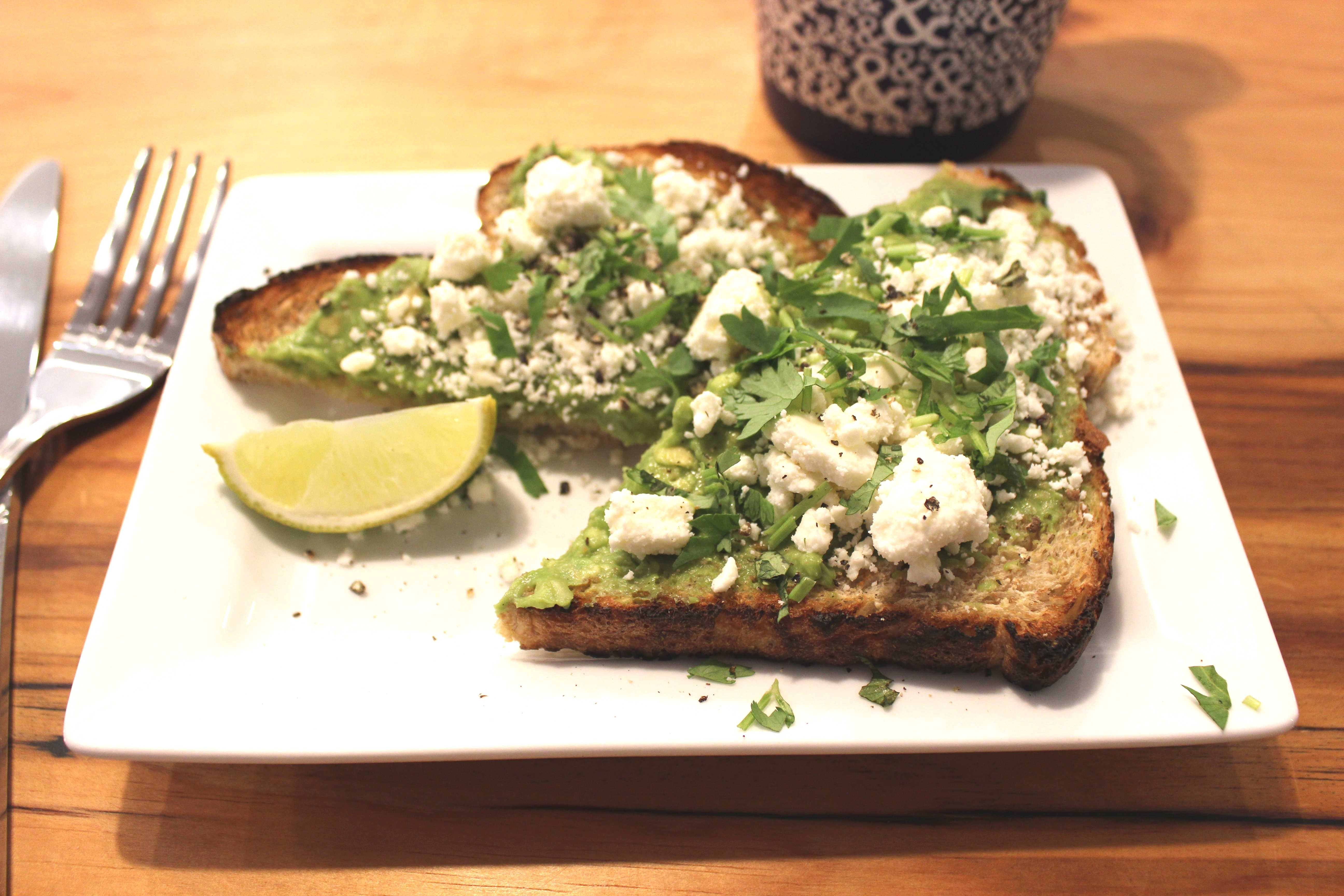 Half half brings brunch and blueprint coffee to webster click to enlarge half halfs take on avocado toast features cilantro and feta cheese photo by malvernweather Choice Image