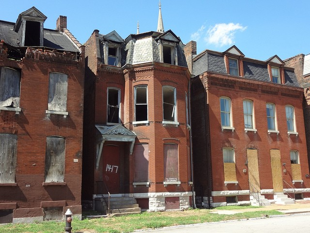 Vacant homes in the city's Hyde Park neighborhood. - PHOTO COURTESY OF FLICKR/PAUL SABLEMAN