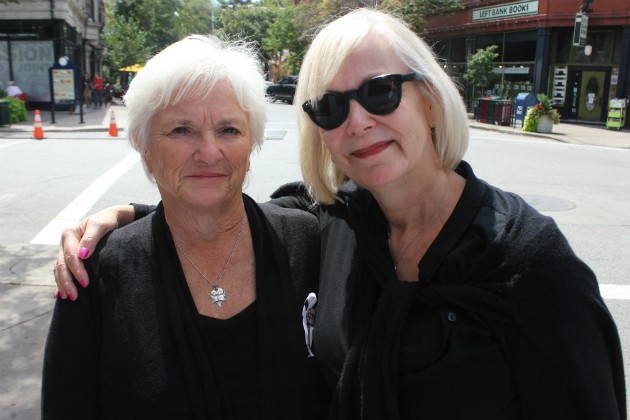 Pat Maisch and Missouri Rep. Stacey Newman, right, have bonded over the fight for stronger gun laws. - PHOTO BY DOYLE MURPHY