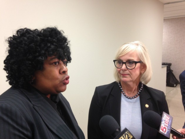 The Rev. Cassandra Gould and Rep. Stacey Newman are calling for an investigation into mass arrests at the Galleria. - PHOTO BY DOYLE MURPHY