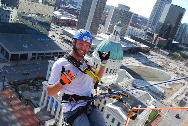 Over the Edge has been rappelling on the edge of St. Louis for eight years. - COURTESY OF DAN GREEN