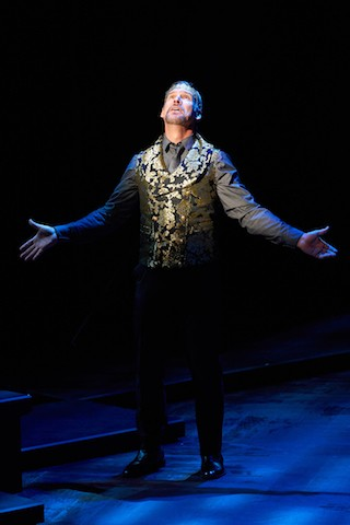 Claudius (Michael James Reed) prays for forgiveness of his many sins. - PETER WOCHNIAK