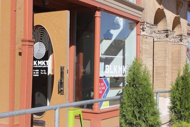 BLK MKT Eats is located within a small storefront in the Gerhart Lofts. - PHOTO BY SARAH FENSKE
