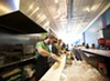 Staffers make sandwiches at Snarf's original St. Louis location on Delmar.