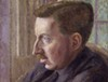 Dora Carrington's portrait of E.M. Forster was painted ca. 1924-1925, shortly before he met Bob Buckingham.