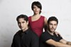 Sean MacLaughlin, Michelle Aravena and Pepe Nufrio star in <i>Evita</i> at the Repertory Theatre St. Louis.