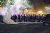 Police fired tear gas canisters into the streets of the Central West End on September 15, 2017.