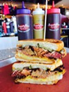 """A previous version of the """"Cuban Reuben,"""" served at Sugarfire Smoke House St. Charles in 2017."""