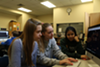 From left, Clayton's Sara Stemmler, Lila Taylor and Disha Chatterjee are three of the 200 high school students who wrote portraits of minors who were killed by gun violence in America in the last year.