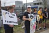 Anti-abortion protesters outside the state's sole abortion clinic in St. Louis.