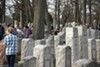 The Chesed Shel Emeth cemetery was packed with volunteers on Wednesday.