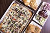 Circa STL offers all the classics: St. Louis-style pan pizza, a loaded garlic bread sandwich, toasted ravioli and barbecue pork steak.