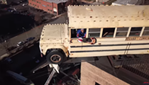 Harlem Globetrotter Sinks 160-Foot Trick Shot from City Museum Roof Bus
