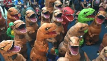 T-Rexes Do an Adorably Clumsy 'Cha-Cha Slide' at Saint Louis Science Museum