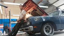 Ryan Gosling at the wheel in the glossy, retro heist-gone-bad bloodbath, <i>Drive</i>