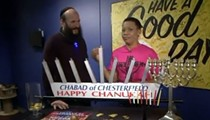 TV Reporter Wears Crucified Jesus Shirt During Hanukkah Segment with Rabbi [UPDATED]