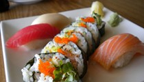 The Sushi Roll Lunch Special at Thai Nivas
